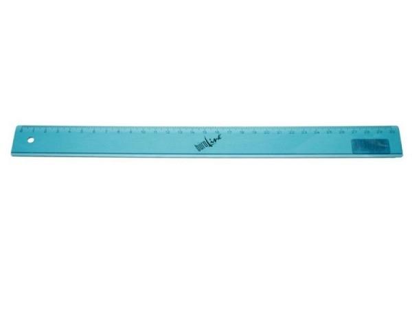 Massstab Büroline 30cm transparent türkis, einseitige Skala