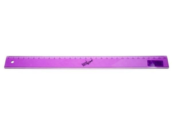 Massstab Büroline 30cm transparent violett, einseitige Skala