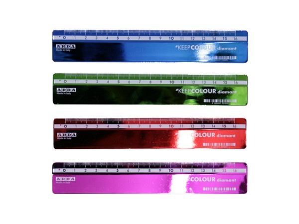 Massstab Arda Lineal Alu pastel 15cm