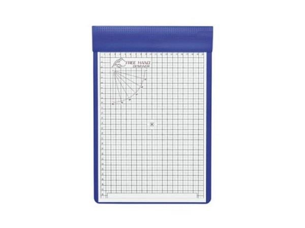 Zeichenplattenfolie Ecobra Freehand Designer A4 inkl. Klemmplatte in blau