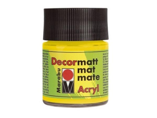 Akryl Marabu Decormatt 50ml gelb