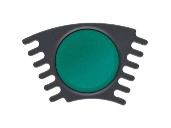 Gouache Faber-Castell Connector Napf blau/grün, ergiebige Deckfarbe mit hoher Deckkraft, schnelle Farbaufnahme, gute Mischbarkeit für Schule und Freizeit