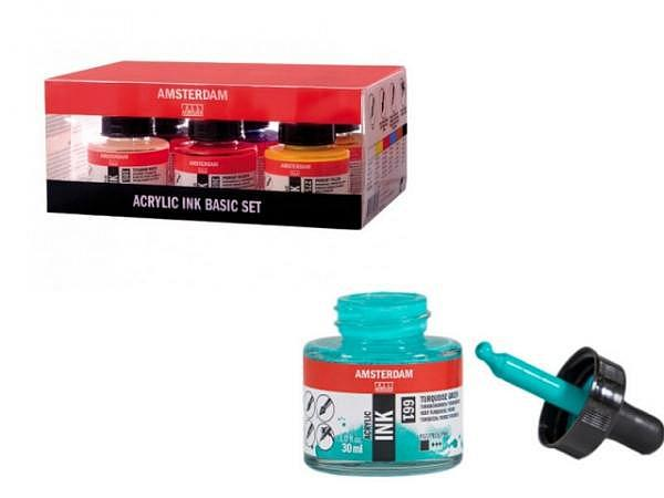 Airbrush Talens Amsterdam Acrylic Ink Set 6x30ml