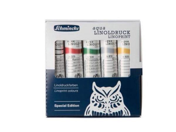 Linoldruckfarbe Schmincke Aqua Set 5x20ml Special Edition