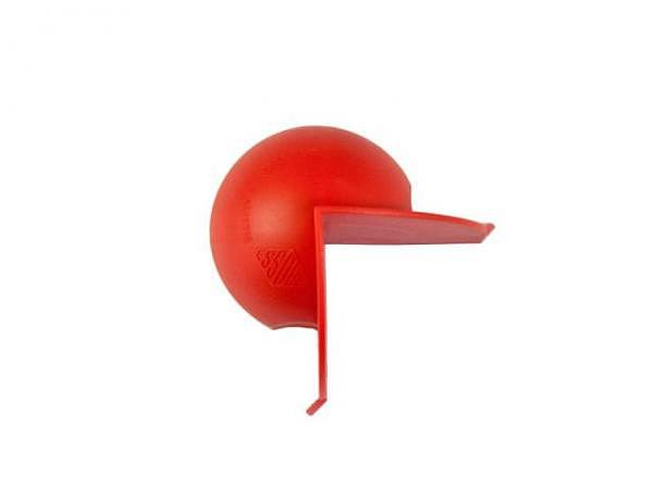 Handschutz Essdee rot, aus Kunststoff gemachter Handschutz