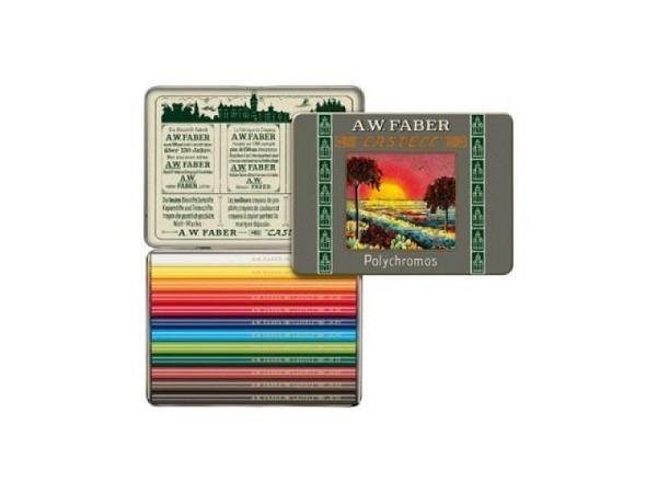 Farbstift Faber-Castell Polychromos 12er Metalletui Sonderedition Kurzstifte
