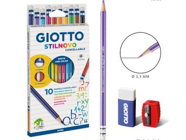 Farbstift Giotto Stilnovo Radierbar 10er Set