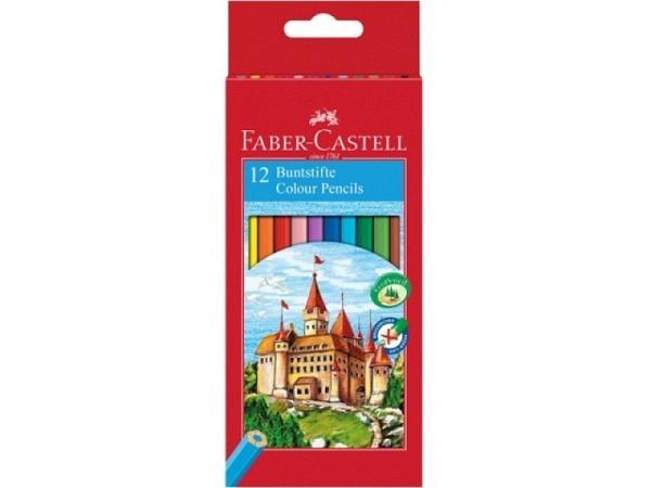 Farbstift Faber-Castell Castle 12er Kartonetui