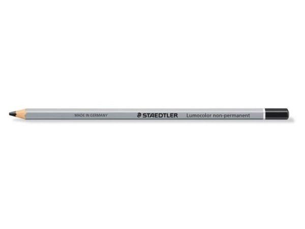 Farbstift Staedtler Lumocolor schwarz wasserlösslich, sechseckiger Stift für deckende Markierungen