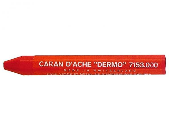 Oelpastell Caran dAche Fettkreide Dermo rot sechskantig