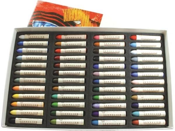 Oelpastell Sennelier Set Kartonetui 48er Universalsortiment