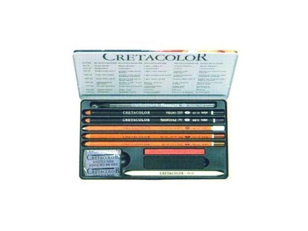 Zeichenstift Cretacolor Artino Set 10tlg Metalletui