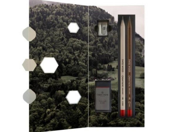 Bleistift Caran d'Ache Swiss Wood HB Nr. 348 Set
