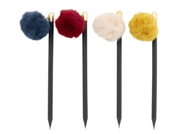 Bleistift Artebene, 18cm mit Pompon, in drei verschiedene Auführungen erhältlich