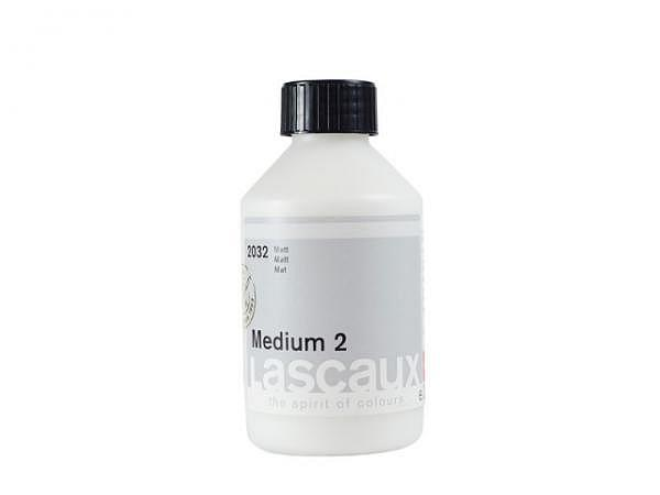 Malmittel Lascaux Medium 2 matt 250ml für Akryl