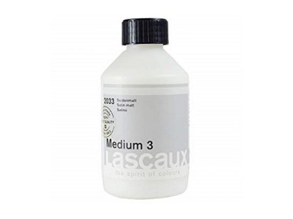 Malmittel Lascaux Medium 3 seidenmatt 250ml für Akryl