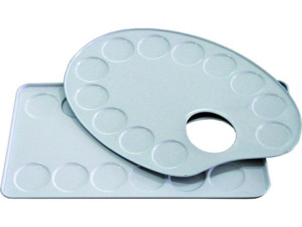 Palette Talens Metall oval 12,6x18,5cm, 12 Mischfächer