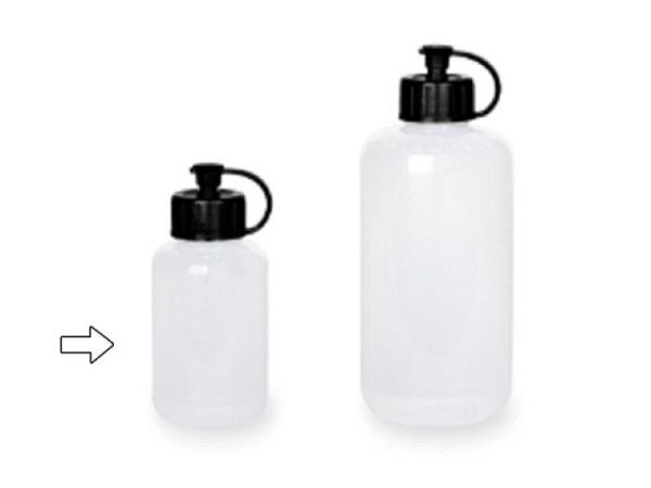 Flasche Lascaux Plastik 85ml transparent leer mit Deckel