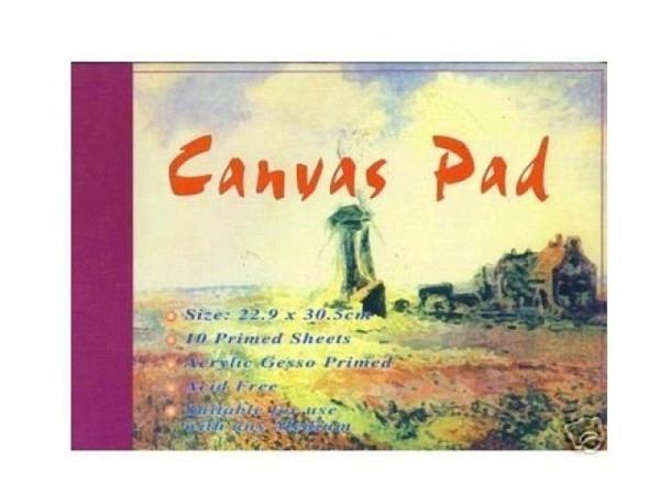 Leinwand Conda Canvas Pad 22,9x30,5cm 10 Bogen