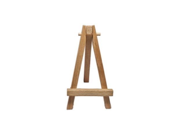 Tischstaffelei Mini naturfarben Holz, 11cm hoch, kleine Dreibeinstaffelei, ideal f�r Tischschilder o