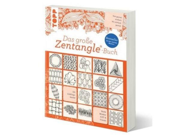 Buch Das grosse Zentangle-Buch von Beate Winkler, �ber 100 Muster werden Schritt-f�r-Schritt erkl�rt, inklusive vieler Variationen und besonders sch�ner Kombinationsm�glichkeiten, Verlag Frech, 144 illustrierte Seiten, 26x20cm, ISBN; 978-3-7724-8215-1