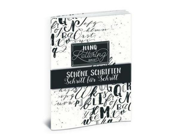 Buch Handlettering Übungsheft, Schöne Schriften Schritt für Schritt
