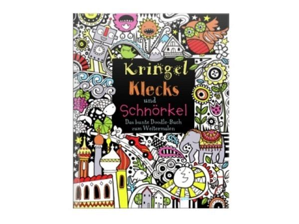 Malbuch Kringel, Klecks und Schnörkel - buntes Doodle-Buch zum Weitermalen, Ausmalbuch für Erwachsen