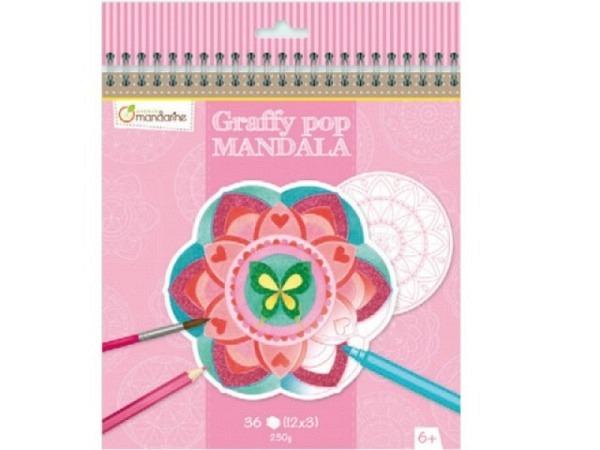 Buch Graffy pop Mandala, Ein Malblock mit verschiedene Motiven für Mädchen