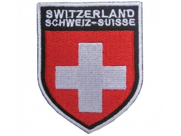 Aufnäher Switzerland aus Stoff