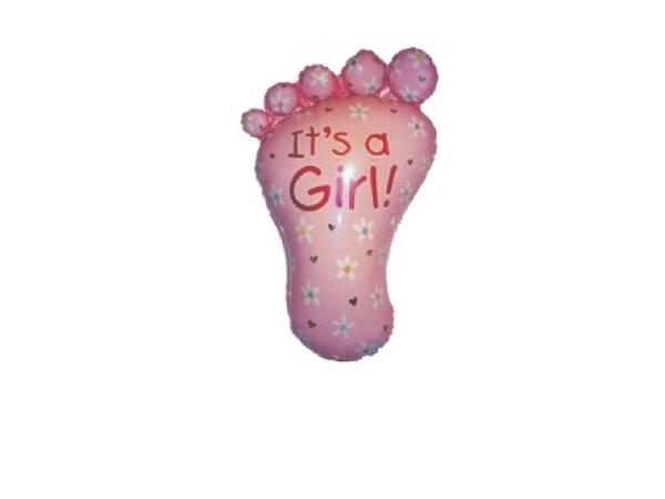 Ballone Folie ungefüllt Baby-Fuss rosa
