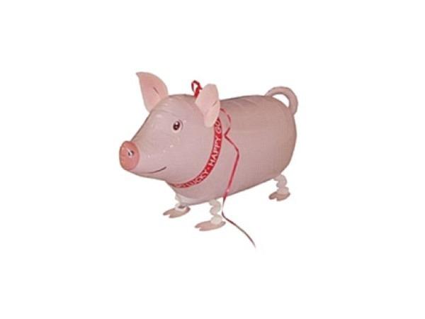 Ballone Folie ungefüllt Air-Walkers Glücksschwein