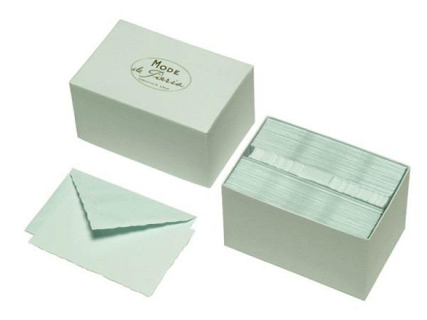 Briefpapier Lalo Mode de Paris Box mit 30 Karte in 300g