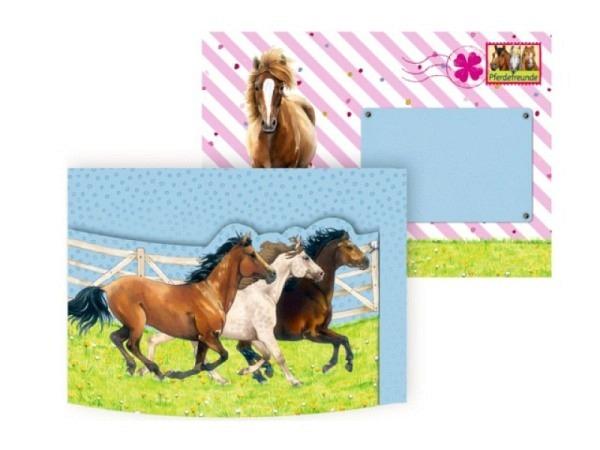 Einladungskarten Coppenrath Pferdefreunde 8er Set