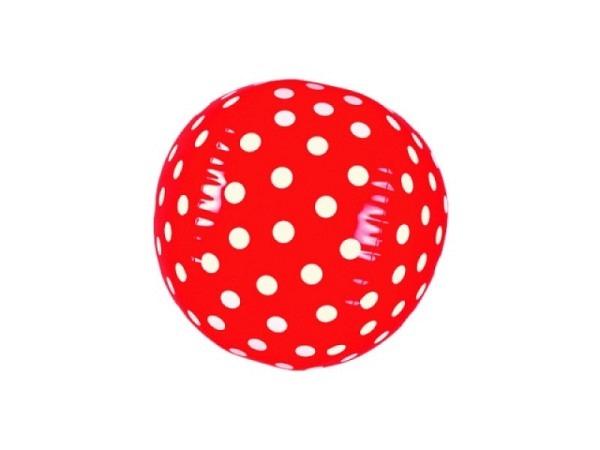 Ball Fröhliche Tupfen aufblasbarer Wasserball rot mit weiss