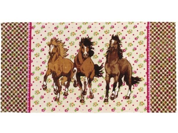 Badetuch Pferdefreunde 75x150cm Badetuch aus 100% Baumwolle