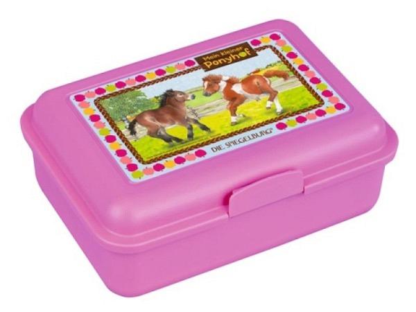 Butterbrotdose Mein kleiner Ponyhof rosa pink Lillifeemotiv