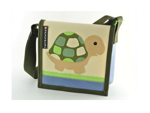 Kindergartentasche BigBox Pingi, blau mit Eislandschaft und Pinguin Applikation, mit viel Platz für