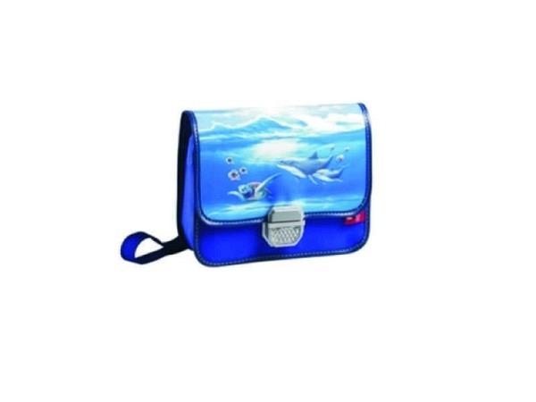 Kindergartentasche Bigbox Delfin mit Schloss und Katzenauge, Innenfach, Platz für Brotbox und Trinkf