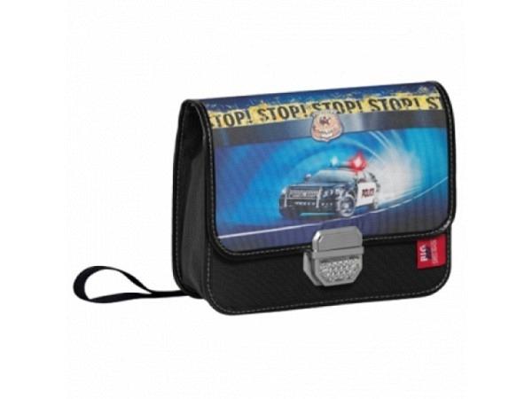 Kindergartentasche BigBox Police, schwarz, Polizeiauto
