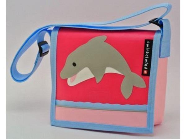 Kindergartentasche Cwirbelwind Delfin 2, aus Schweizer Handarbeit, jede Tasche ein Unikat