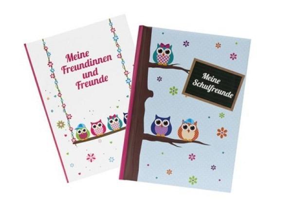 Freundschaftsbuch Goldbuch Eule A5 mit 72 bedruckten S.