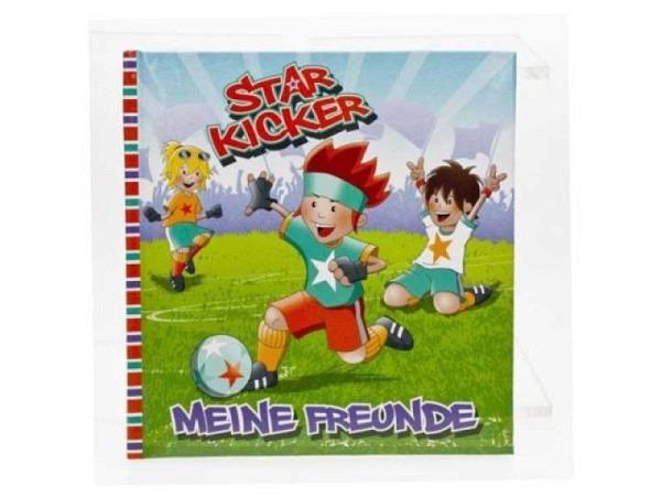 Freundschaftsbuch Star Kicker 16x16cm farbig Illustriert
