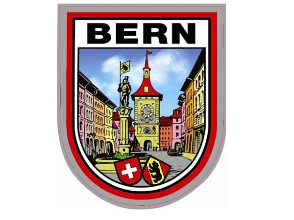 Aufkleber Altstatt Bern in der klassischen Wappen-Form
