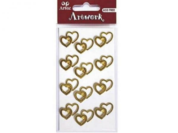Aufkleber Artoz Artwork 18 gold/silber, 6Stk., silbrige Zahl mit gold Umrandung handgefertigt, in 3D-Optik