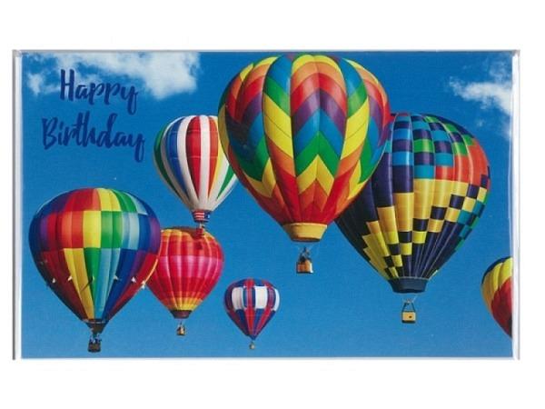 Geburtstagskarte 30 Eigenart Luftballons, 11,8x16,1cm