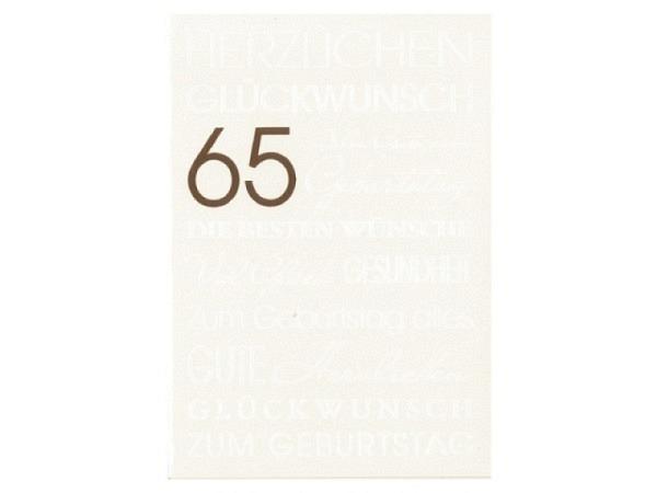 Geburtstagskarte 70 Borer Rosen und Sektgläser, 11,5x17cm