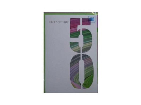 Geburtstagskarte ABC 65 Zahlengeburtstag rote Rose 11,5x17cm