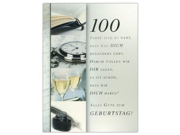 Geburtstagskarte ABC 100 Zahlengeburtstag Jahre sind es wert