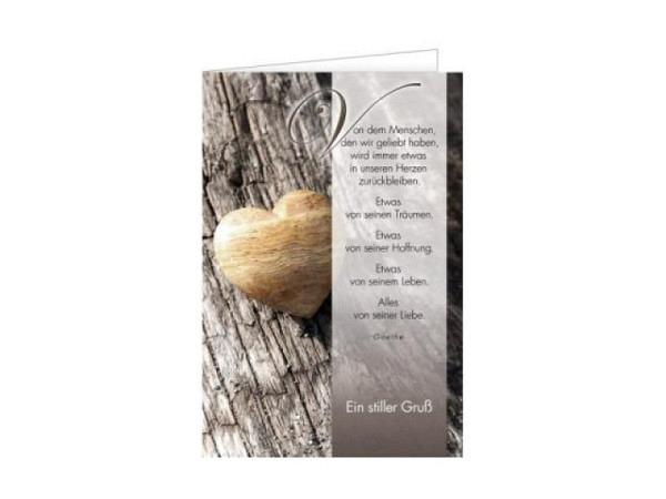 Trauerkarte Art Bula 12,2x17,5cm Blaue Lilie, Doppelkarte mit Fotodruck, unbedrucktem Einlageblatt und Couvert