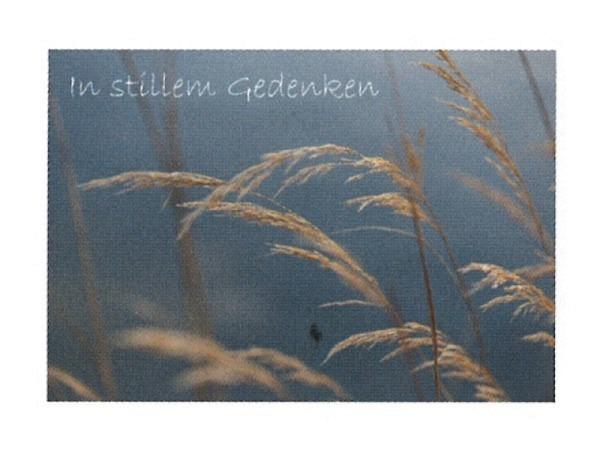 Trauerkarte Art Bula 12,2x17,5cm Kornhalme